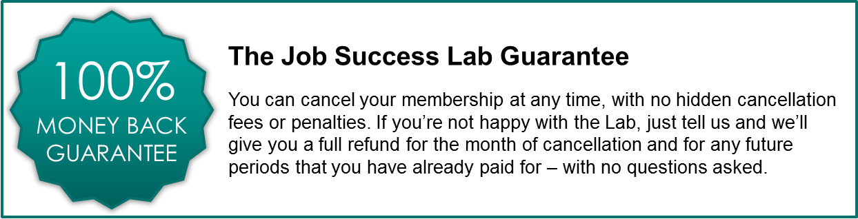 Job Success Lab Guarantee