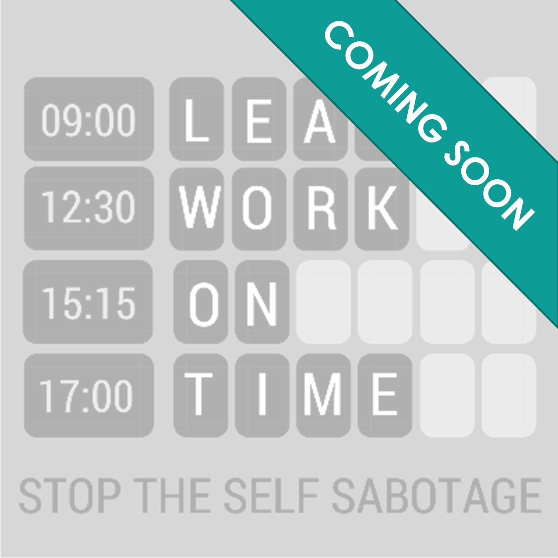 STOP THE SELF SABOTAGE